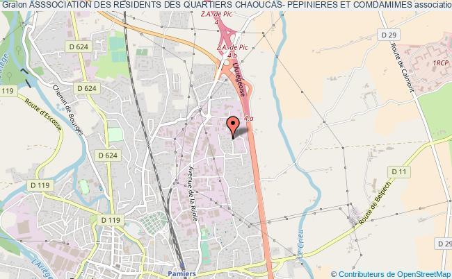 plan association Asssociation Des Residents Des Quartiers Chaoucas- Pepinieres Et Comdamimes