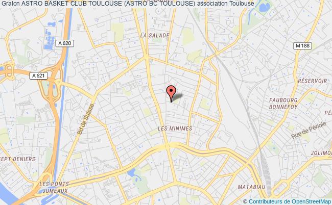 plan association Astro Basket Club Toulouse (astro Bc Toulouse)