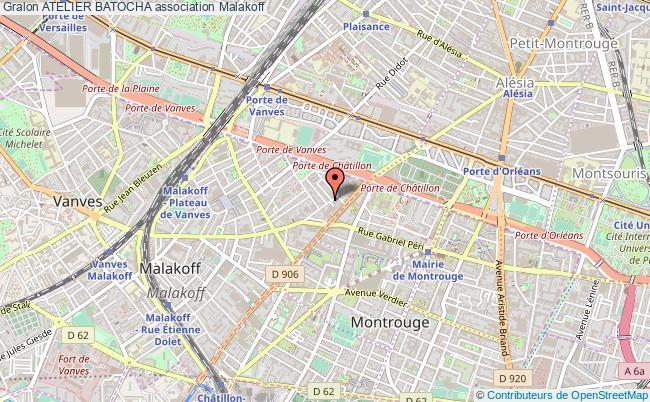 plan association Atelier Batocha Malakoff