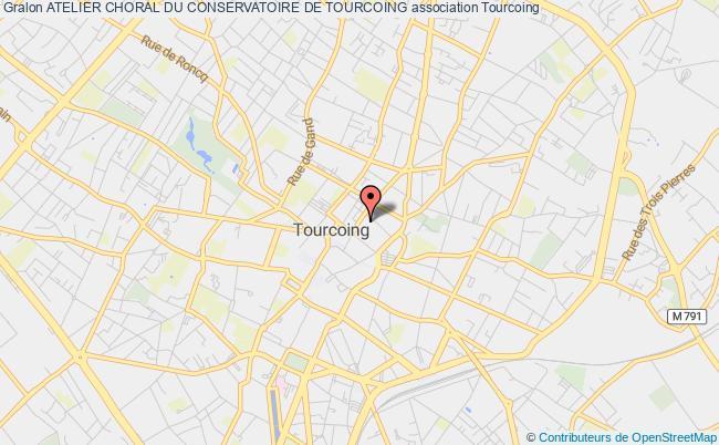 plan association Atelier Choral Du Conservatoire De Tourcoing