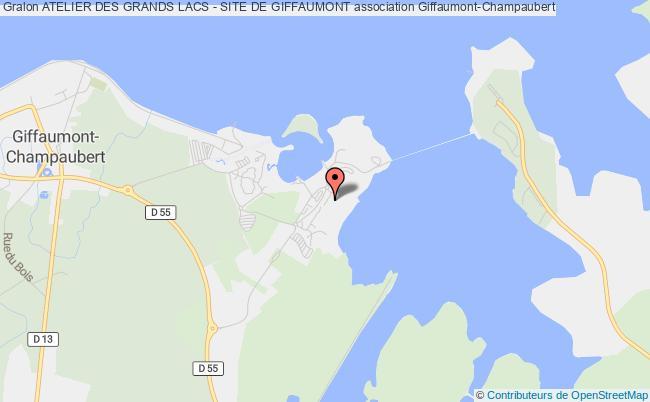plan association Atelier Des Grands Lacs - Site De Giffaumont