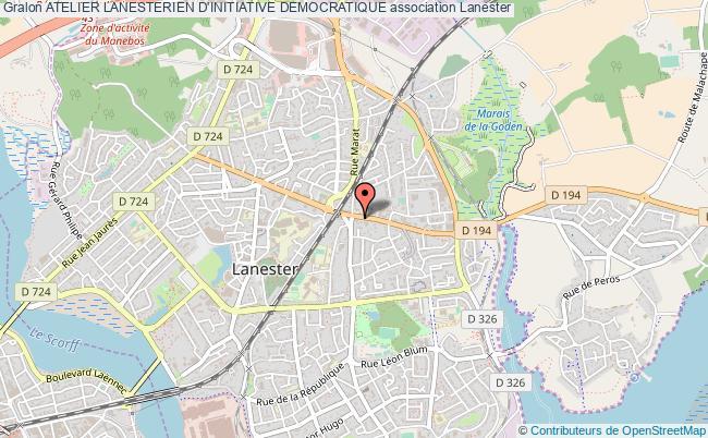 plan association Atelier Lanesterien D'initiative Democratique