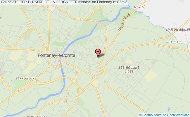 plan association Atelier Theatre De La Lorgnette Fontenay-le-Comte