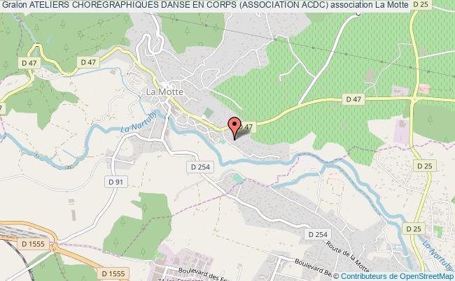 plan association Ateliers ChorÉgraphiques Danse En Corps (association Acdc) Motte