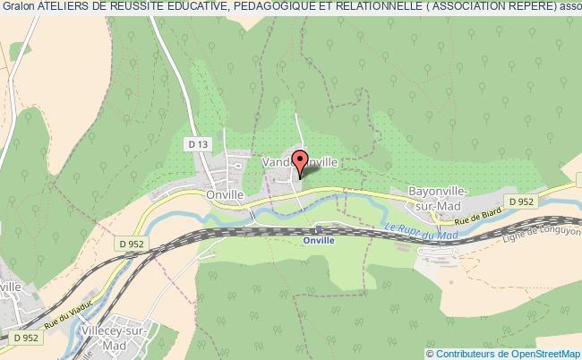 plan association Ateliers De Reussite Educative, Pedagogique Et Relationnelle ( Association Repere)