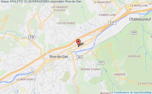 plan association Athletic Club Ripagerien Rive-de-Gier