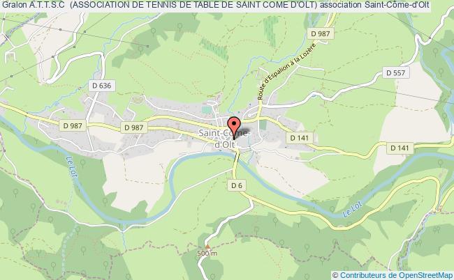 plan association A.t.t.s.c  (association De Tennis De Table De Saint Come D'olt)