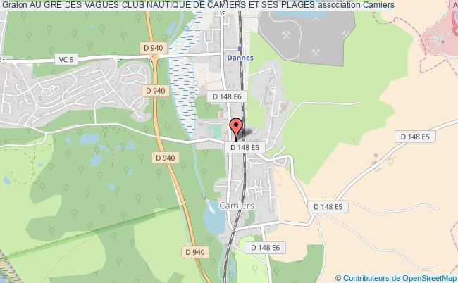 plan association Au Gre Des Vagues Club Nautique De Camiers Et Ses Plages Camiers