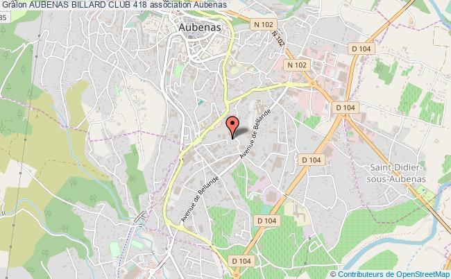 plan association Aubenas Billard Club 418