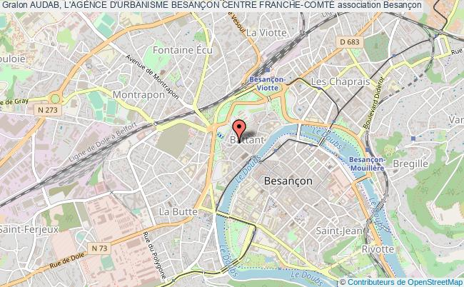 plan association Audab, L'agence D'urbanisme BesanÇon Centre Franche-comtÉ