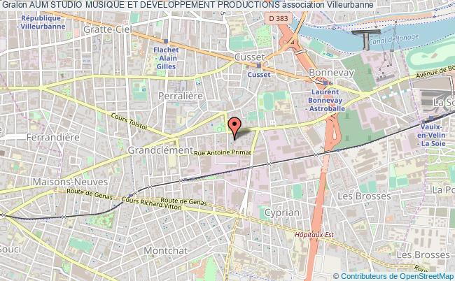 plan association Aum Studio Musique Et Developpement Productions