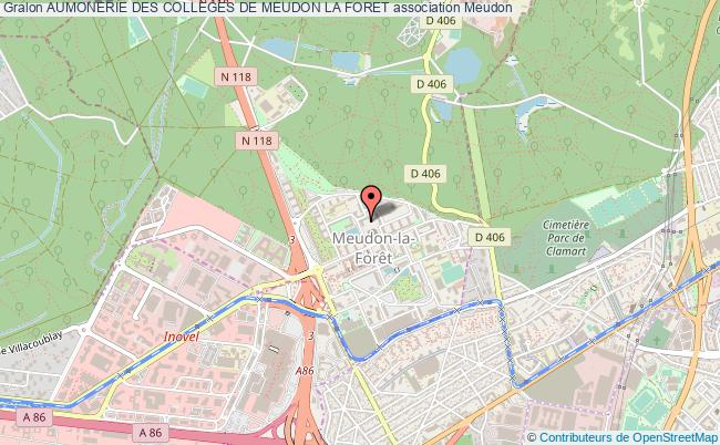 plan association Aumonerie Des Colleges De Meudon La Foret