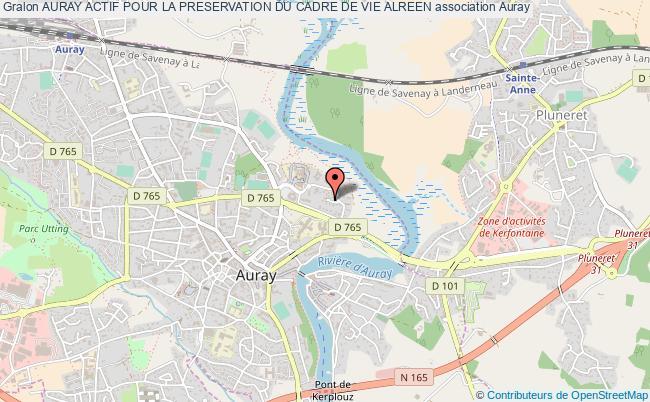 plan association Auray Actif Pour La Preservation Du Cadre De Vie Alreen