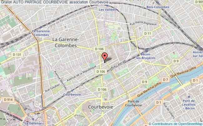 plan association Auto Partage Courbevoie