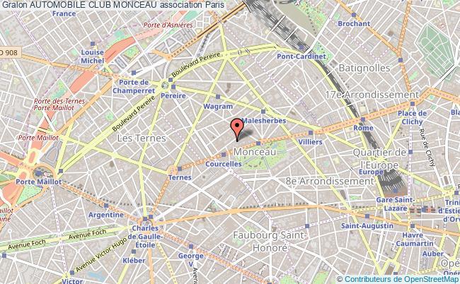 plan association Automobile Club Monceau