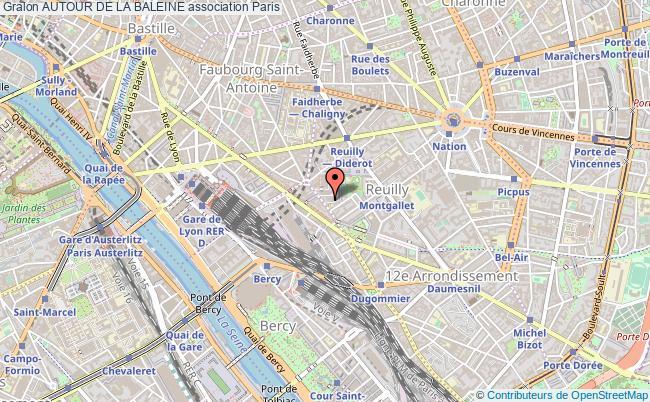 plan association Autour De La Baleine Paris