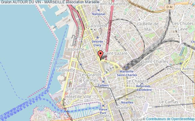 plan association Autour Du Vin - Marseille Marseille