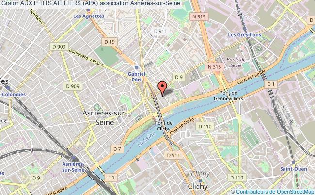 plan association Aux P Tits Ateliers (apa) Asnières-sur-Seine