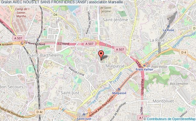 plan association Avec Nous Et Sans Frontieres (ansf) Marseille