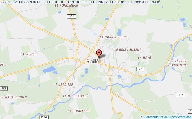 plan association Avenir Sportif Du Club De L'erdre Et Du Donneau Handball