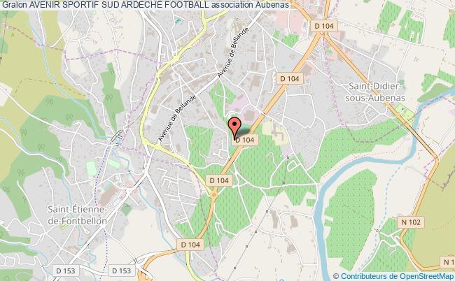 plan association Avenir Sportif Sud Ardeche Football
