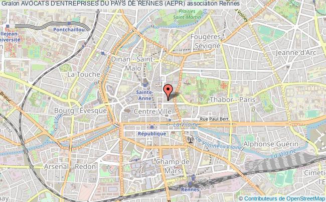 plan association Avocats D'entreprises Du Pays De Rennes (aepr)