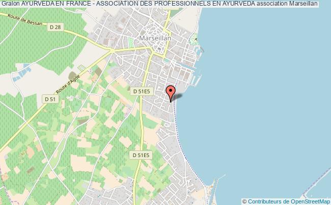 plan association Ayurveda En France - Association Des Professionnels En Ayurveda Marseillan