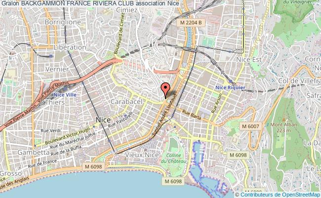 plan association Backgammon France Riviera Club Nice