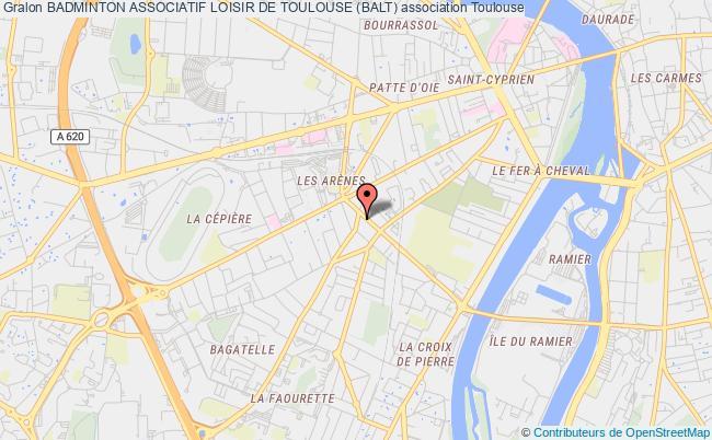plan association Badminton Associatif Loisir De Toulouse (balt)