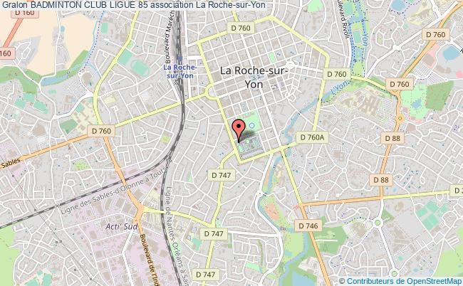 plan association Badminton Club Ligue 85 La Roche-sur-Yon