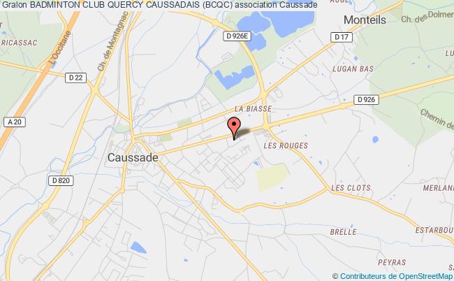 plan association Badminton Club Quercy Caussadais (bcqc) Caussade