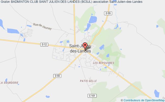 plan association Badminton Club Saint Julien Des Landes (bcsjl) Saint-Julien-des-Landes