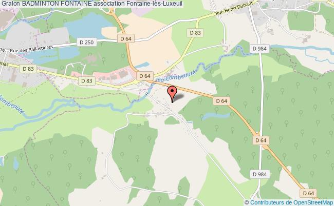 plan association Badminton Fontaine