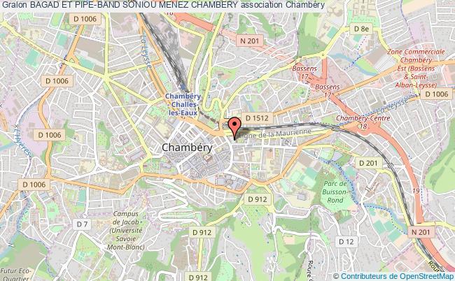 plan association Bagad Et Pipe-band Soniou Menez Chambery
