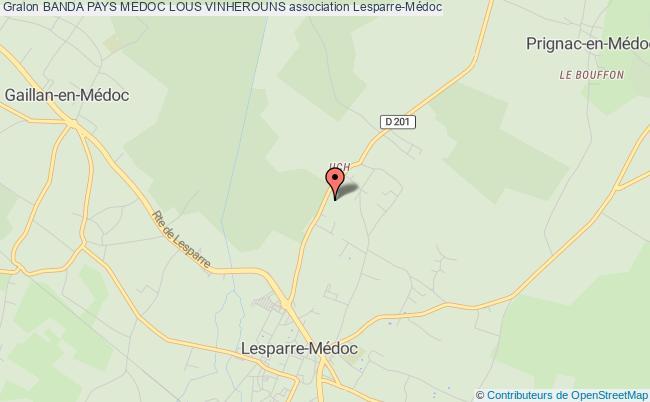 plan association Banda Pays Medoc Lous Vinherouns Saint-Vivien-de-Médoc