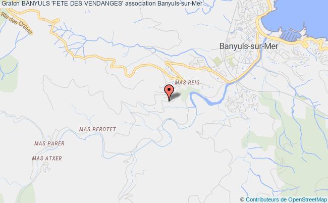 plan association Banyuls 'fete Des Vendanges'