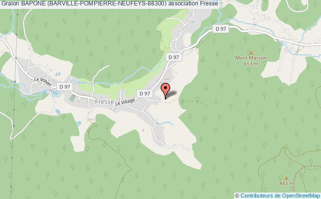 plan association Bapone (barville-pompierre-neufeys-88300) Fresse