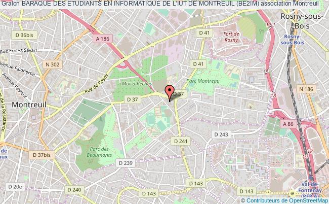 plan association Baraque Des Etudiants En Informatique De L'iut De Montreuil (be2im)