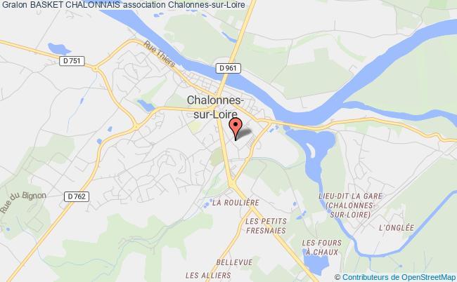 plan association Basket Chalonnais Chalonnes-sur-Loire