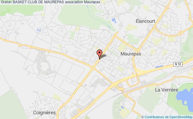 plan association Basket Club De Maurepas Maurepas