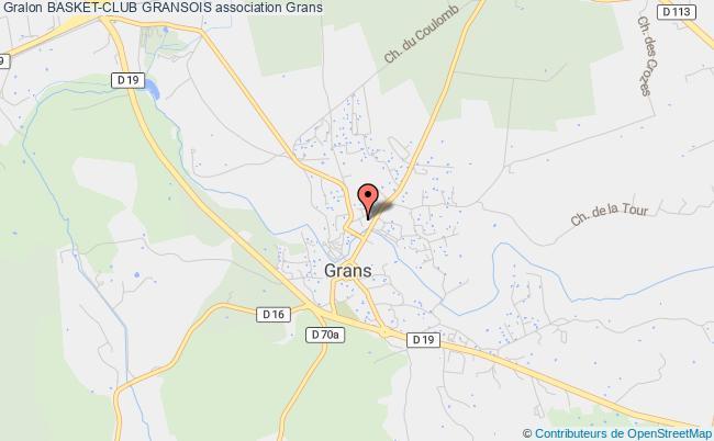 plan association Basket-club Gransois