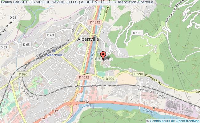 plan association Basket Olympique Savoie (b.o.s.) Albertville Gilly
