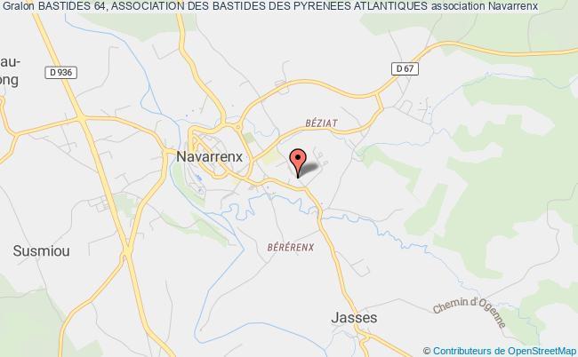 plan association Bastides 64, Association Des Bastides Des Pyrenees Atlantiques