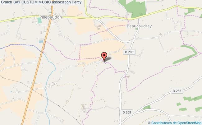 plan association Bay Custom Music Percy-en-Normandie