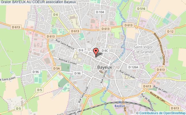 plan association Bayeux Au Coeur Bayeux