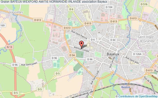 plan association Bayeux-wexford Amitie Normandie-irlande Bayeux