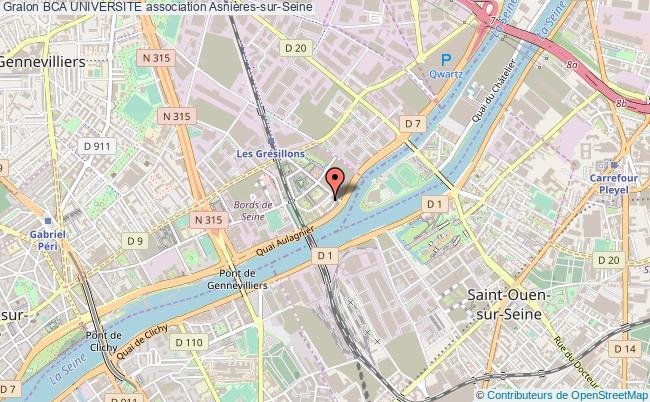 plan association Bca Universite Asnières-sur-Seine