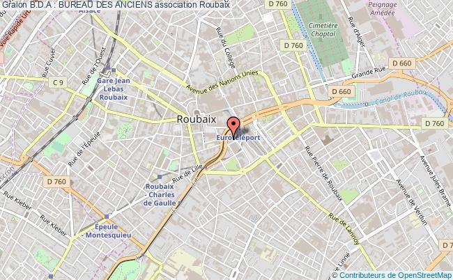plan association B.d.a : Bureau Des Anciens Roubaix Cédex 01