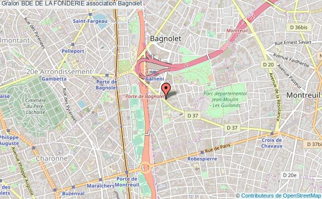 plan association Bde De La Fonderie