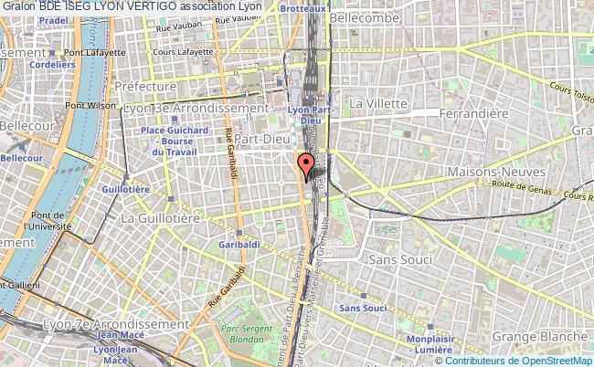 plan association Bde Iseg Lyon Vertigo Lyon 3e Arrondissement